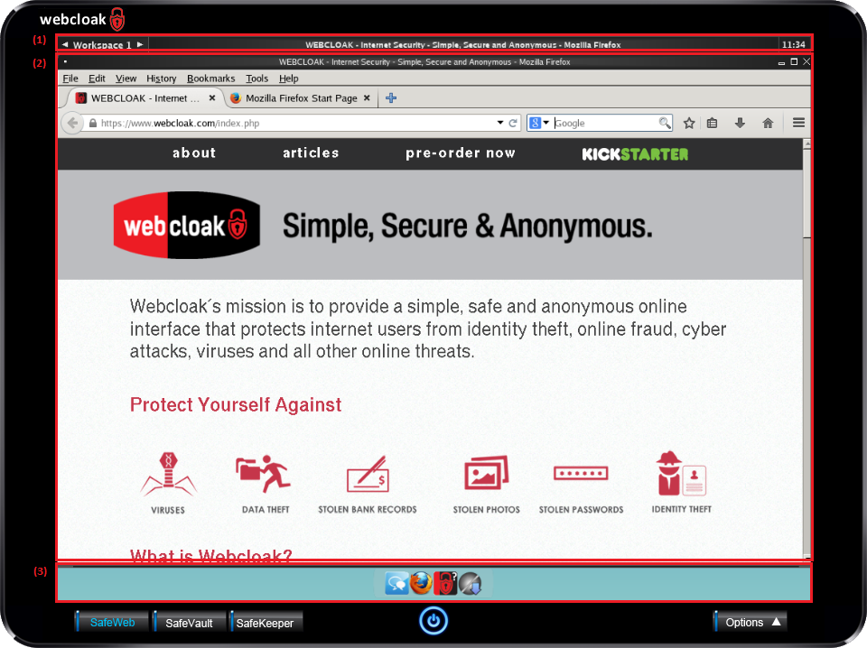 Webcloak SafeWeb Desktop