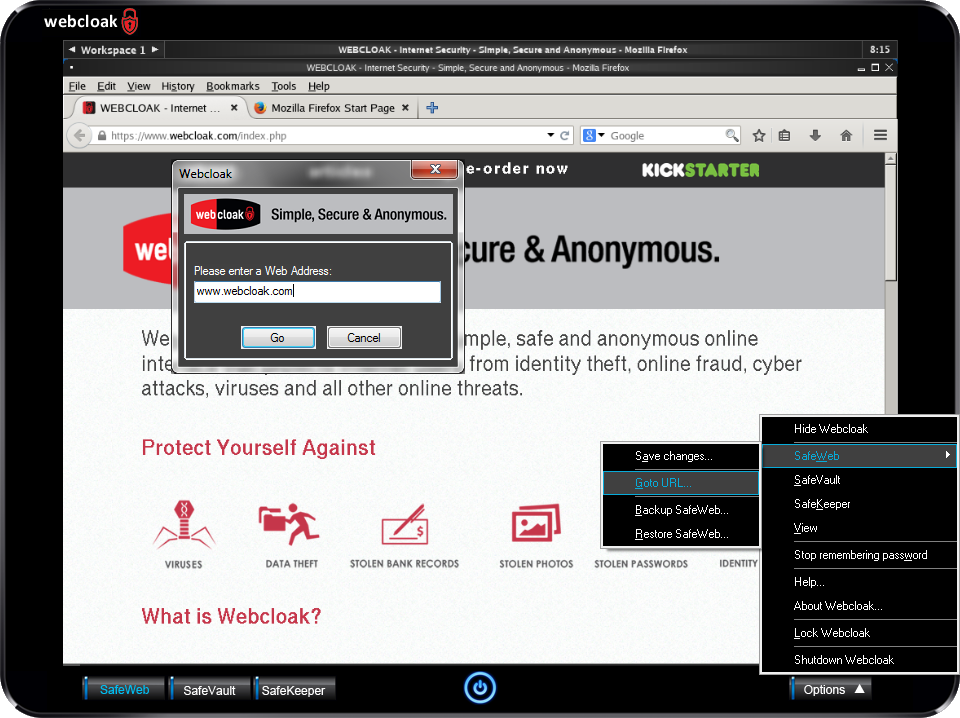 Webcloak SafeWeb Goto URL
